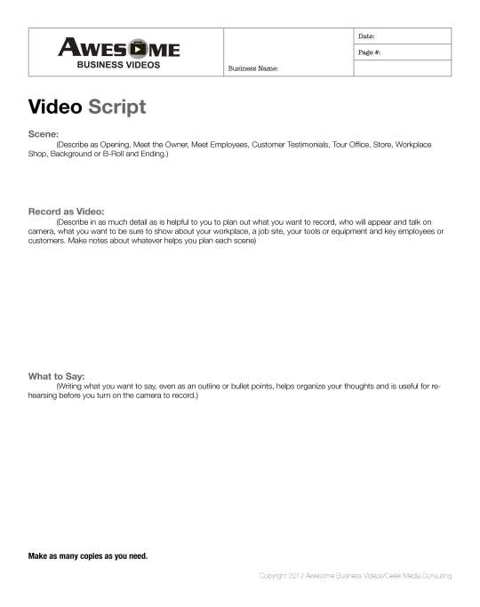 How-To Guides: Script Writing Guide for Awesome Business Videos